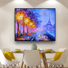 Paris Street Art Landscape Oil Painting Wall Art Canvas Print Poster Modern Home Decor Wall Picture For Living Room Decoration big size canvas art painting handpainted oil painting modern home decoration dropship oil painting wall art picture room decora