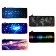 RGB Gaming Mouse Pad Non-Slip Large Cool Gaming Mouse Mat with 14 Types Light
