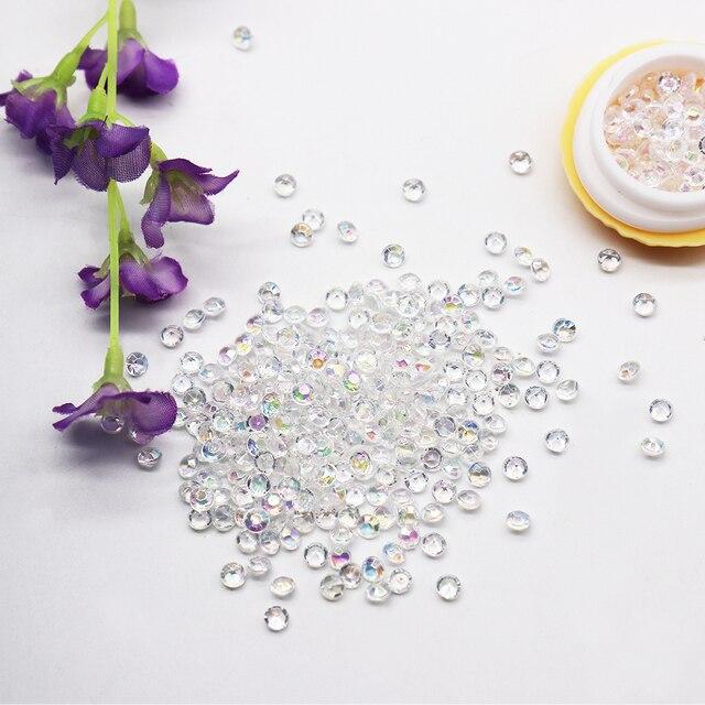 1000PS 4.2mm akrylowe diamentowe konfetti rzemieślnicze dekoracje ślubne diamentowe konfetti tabela rozprasza wyczyść kryształowa ozdoba stołowa Party
