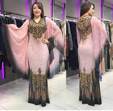 2019 new arrival summer elegent fashion style african women polyester plus size printing long dress