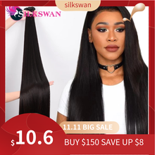 Soyeux swan 32 34 36 38 40 pouces cheveux humains raides paquets 3 4 pièces Remy Extension de cheveux cheveux brésiliens armure faisceaux