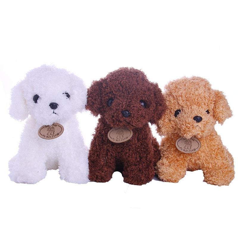 Teddy Dog Doll Plush 3 Colors For 18 Inch American Doll&43 Cm Born Baby Russian Handmade DIY,Generation,Birthday Girl's Toy Gift