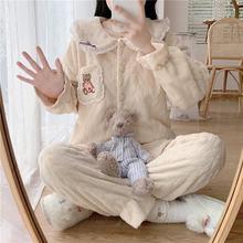 Новинка 2020 зимняя Пижама женская теплая пижама в стиле принцессы