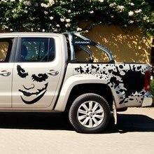 1 ensemble comprend 7 pièces joker graphique vinyle autocollants de voiture pour SUV carrosserie porte porte arrière et le capot