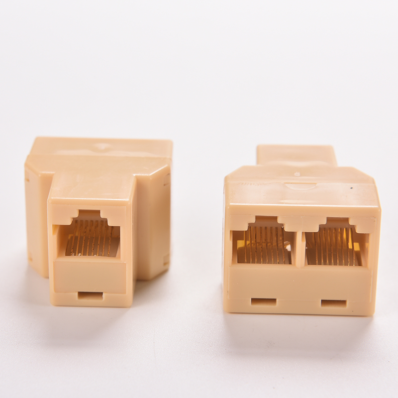 Socket Network Plug LAN Port 1 To 2 Socket Splitter Connector Adapter DZ517 RJ45 Coupler 8P8C Ethernet Cable Extender
