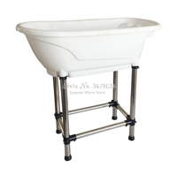 Large Size Pet Bathtub Pet Products Non slip Bath Tub for Dog and Cat Not Bend Over with High Stainless Steel Legs Easy Install