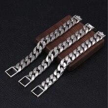 BOCAI 100% réel s925 pur argent bijoux personnalité rotin herbe argent bracelet pour hommes, dominateur Thai argent homme bracelet