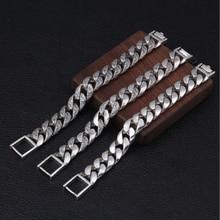 Bocai 100% リアル s925 純銀ジュエリー人格籐草シルバーブレスレット男性のための、横暴なタイシルバーマンブレスレット
