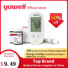 Yuwell 580 Blood Glucose Meter Diabetic Blood Sugar Detection Glucose Meter Household 580+50/580+100/50/100 pcs Test Strips