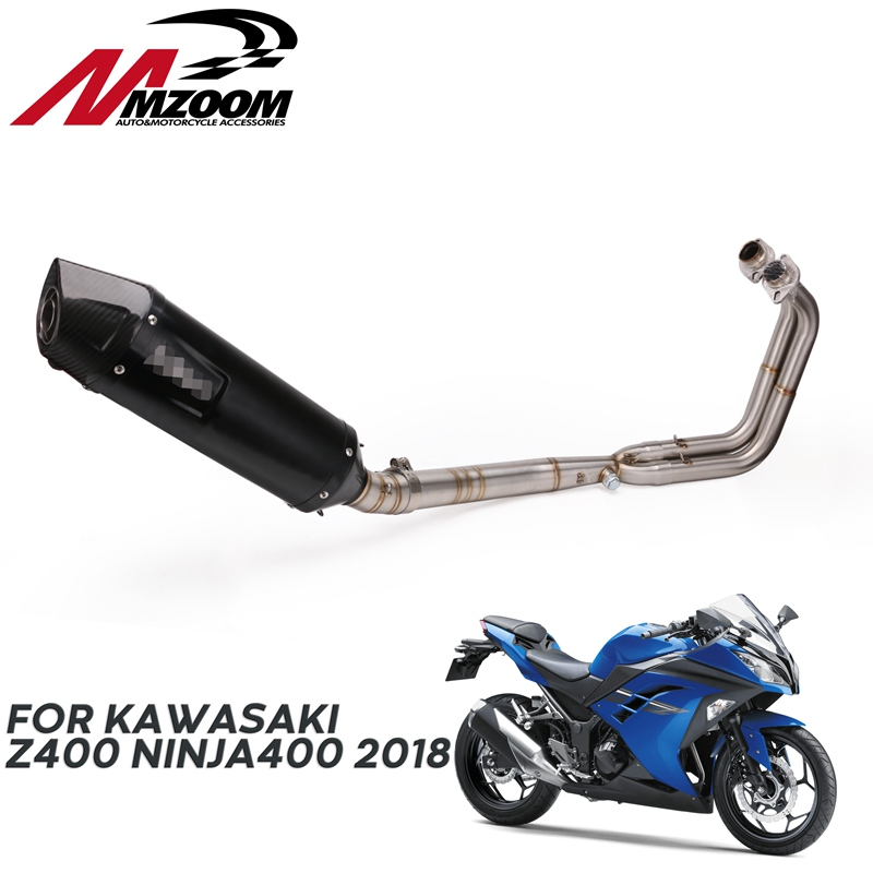 Full System For Kawasaki Ninja 400 EX400 z400 2018 2019 Motorcycle Exhaust Muffler Pipe Full Exhaust System
