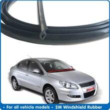 Car Dashboard 2M Windshield Rubber Seal Front Rear Windshield Sunroof Seal Strips Dustproof Sealing Strip For Auto Windshield