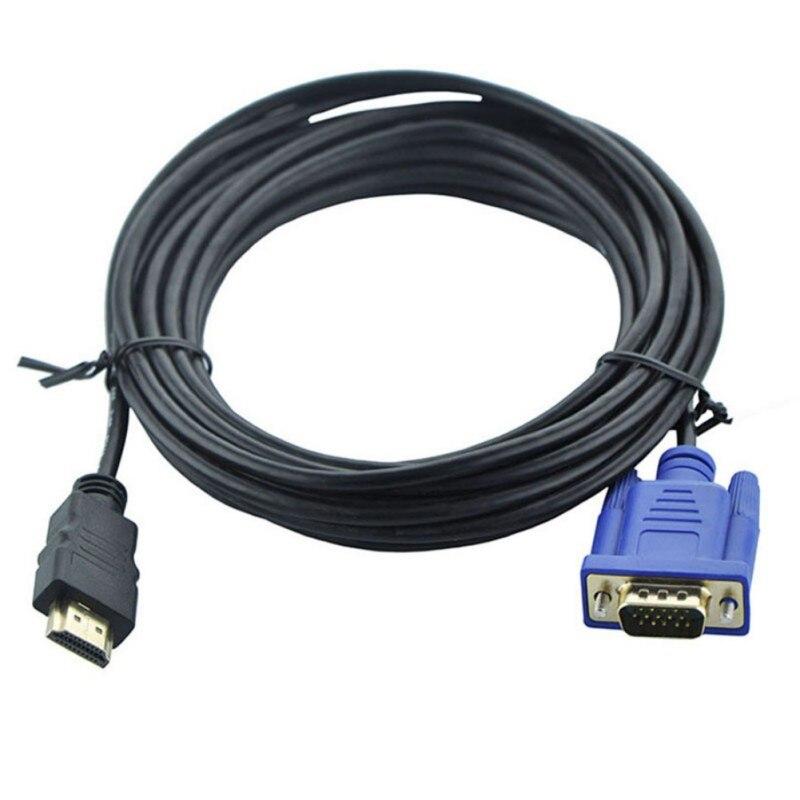 1,8/3-M, совместимому с HDMI кабель VGA адаптер HDMI-VGA соединительный кабель с разъемом кабеля 1080P Full HD с аудио конвертер адаптер для устройства с дек...