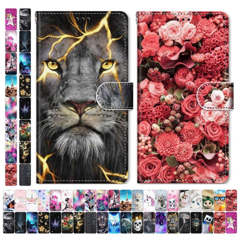 Meninos meninas crianças adorável sacos de telefone para o caso redmi 7 7a redmi 6 pro 6a torre de flores animais gato cão borboleta tigre lobo leão d08f