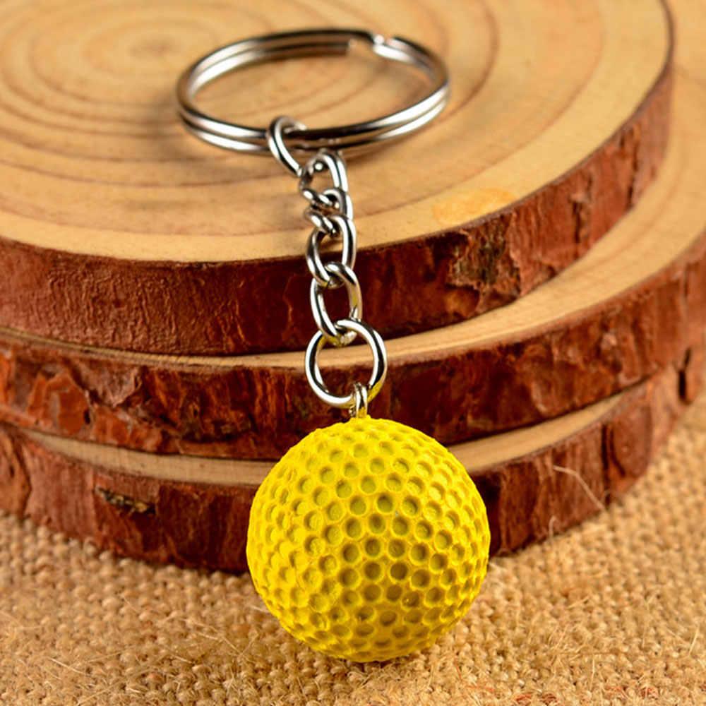 2 piezas deporte clave de fútbol baloncesto Golf llaveros para adultos niños partido favores y Carnaval de la escuela