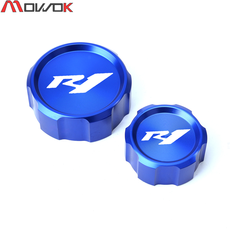 Front Brake Clutch Fluid Reservoir Cover Cap For YAMAHA YZFR1 YZF-<font><b>R1</b></font> YZF <font><b>R1</b></font> 2000-2020 <font><b>2019</b></font> 2018 Motorcycle Accessories image