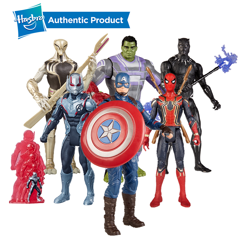 Hasbro Marvel Avengers Endgame Team Suit 6-Inch Spiderman Iron Man Ant Man Captain America Black Panther Ronin Thanos Hulk