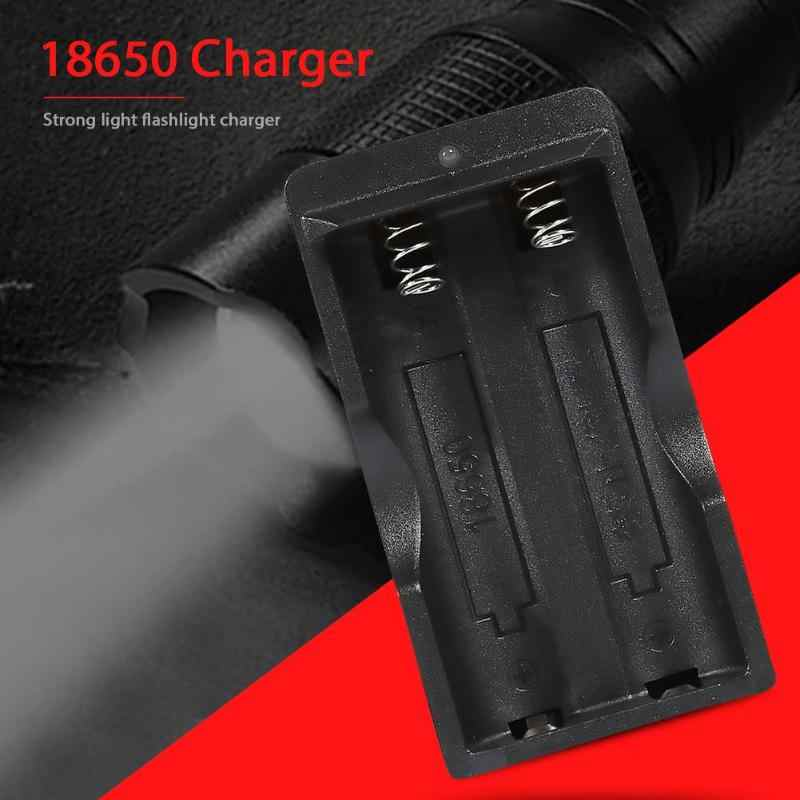 Dual Slot Smart Battery Charger Flashlight Charger for 4.2V 18650 Battery