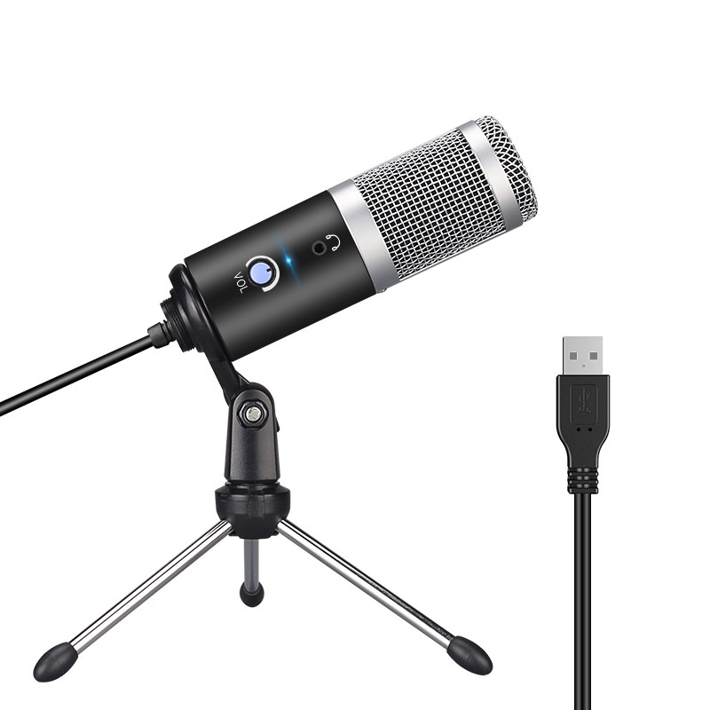USB Plug and Play Microphone For Computer YouTube Skype Studio Live Broadcasting Microphone Music Performance Vocal Recording image