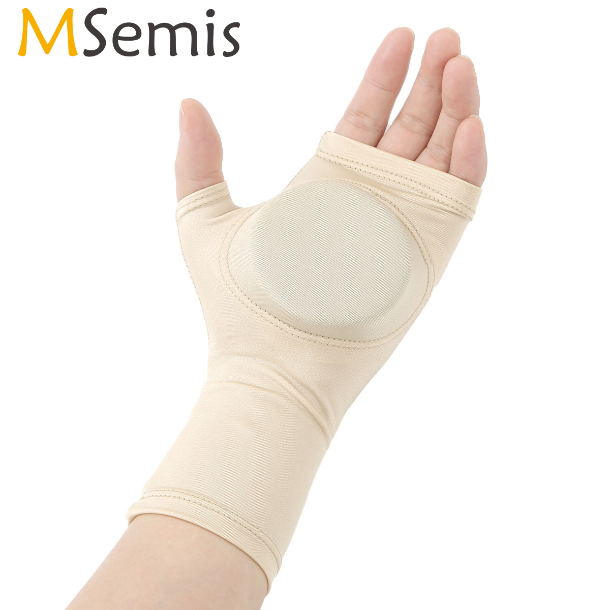 MSemis 1 Pair Figure Skating Hand Protector Pad Cover Adult Kids Girls Boys Ice Skating Safety Gloves Palm For Training Practice