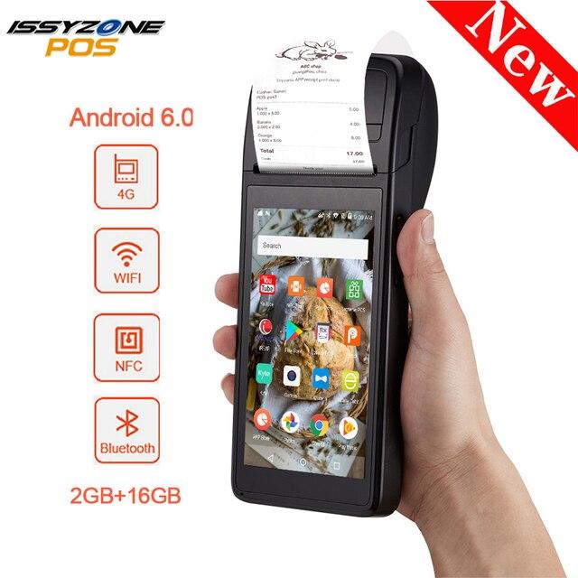 IssyzonePOS Android 6.0 PDA imprimante de reçus de poche Terminal de position Bluetooth 4.0 Wifi 3G 1W haut-parleur caméra paiement Mobile 1