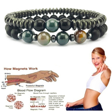Weight Loss Bracelet Magnetic Treatment Bracelet Waterproof Swelling Rheumatism Hand Pain Relief Health Bracelet Men and Women