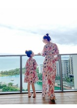 Mother Daughter Long Beach Dresses Casual Princess Summer 2020 Family Look Family Matching Clothes Mommy and Me Dress Dot brand children holiday beach dress family look matching outfits mommy and me girl clothes mother and daughter summer party dress