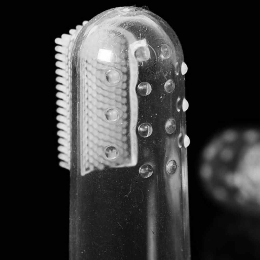Suef 1pcs Morbido pet dito spazzolino da denti cane di medie dimensioni tartaro dentale strumento pennello @ 1