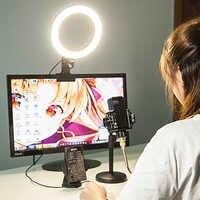 Mamen 20 Cm Protable Selfie Anello di Luce per Youtube Live Streaming Studio Video Led Dimmerabile Fotografia di Illuminazione con Il Cavo Usb
