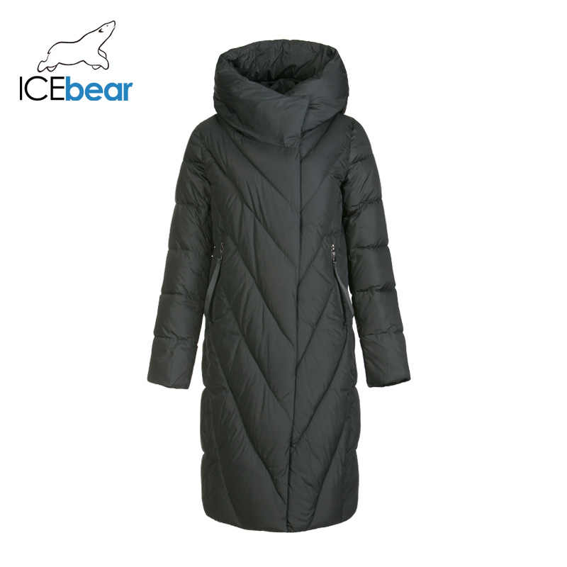 Icebear 2019 Nieuwe Winter Lange Vrouwen Donsjack Mode Warme Vrouwen Jas Merk Vrouwen Kleding GWD19149I