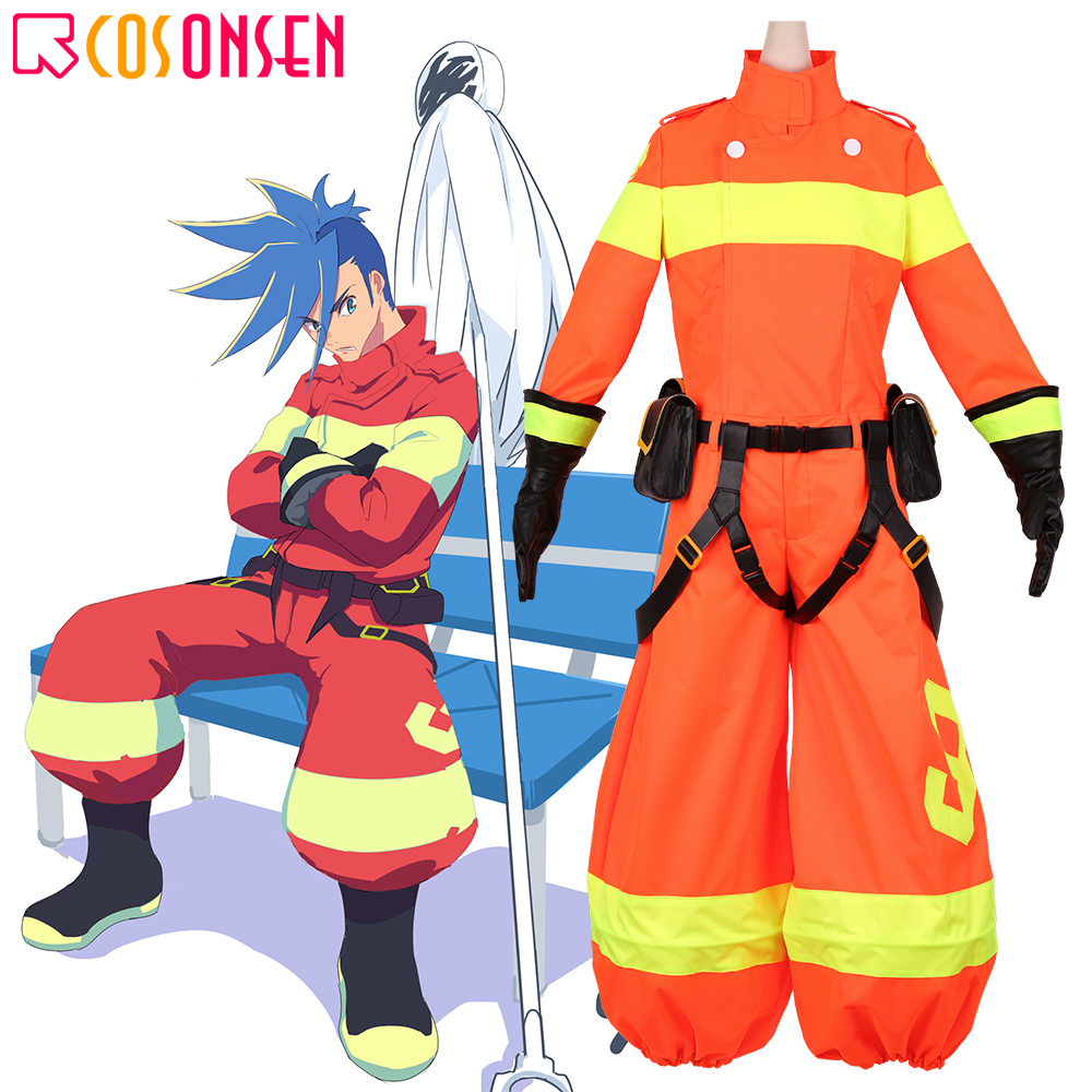 PROMARE Galo Thymos Cosplay Burning Rescue Costume Anime Suit With Coat COSPLAYONSEN Custom Made