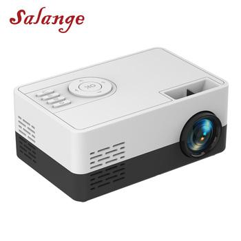 Salange Mini projektor J15 320*240 pikseli obsługuje 1080P HDMI USB Mini Beamer domowy odtwarzacz mediów dla dzieci prezent tanie i dobre opinie Instrukcja Korekta Projektor cyfrowy 16 09 Focus 80 Ansi System multimedialny 1000 Lumenów J15 J16 60-120 cali Led light