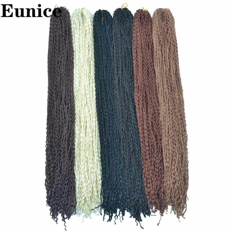 זיזי סרוגה תיבת צמות שיער קולעת סינתטית שיער הרחבות 25-32Strands/חבילה 613/1B/# 99j/בלונד /שחור 50g יוניס שיער