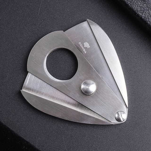 New 1pcs Cohiba cigar Cutter cigar scissors Wood sector edged stainless steel blade Cigar Accessories 4