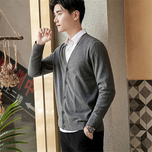 Cotton Sweater Mens Cardigan Sweater Men