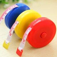 1.5m mini fita retrátil automática medida centímetro/Polegada régua flexível doces cor régua fita de medição (padrão aleatório)