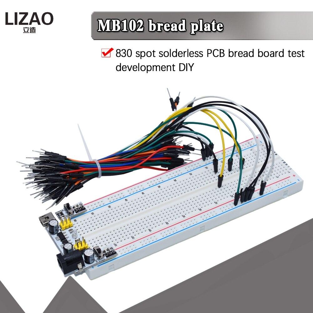 Новый MB-102 MB102 макет 400 830 Точка пайки печатной платы макетная плата тестирование Разработка DIY для arduino лаборатории SYB-830
