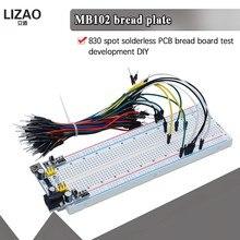 Novo MB-102 mb102 tábua de pão 400 830 ponto solderless pcb placa teste desenvolver diy para arduino laboratório SYB-830