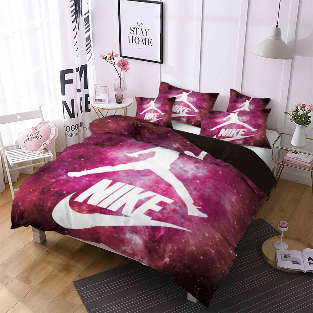 Red Galaxy Sport Bedding Basketball Player Posture Duvet Cover Home Dorm Quilt Cover Pillowcase Boy Men Single Double Bed Set