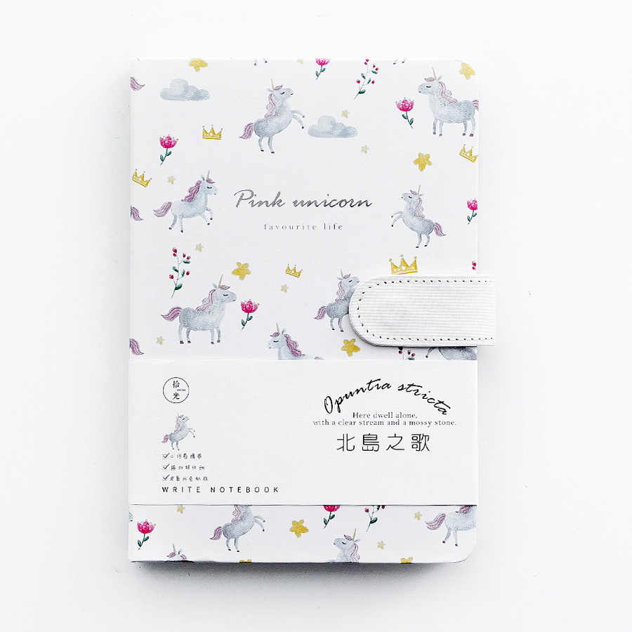A5 Cute Pu Leather Cactus Unicorn Notebook Diary Weekly Planner