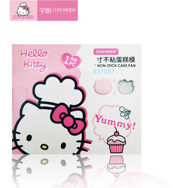 hong Wu Torta del Molde De Silicona Hello Kitty Pan Antiadherente De Silicona del Molde del Chocolate con 16 Cavidades del Molde Jab/ón Rosa