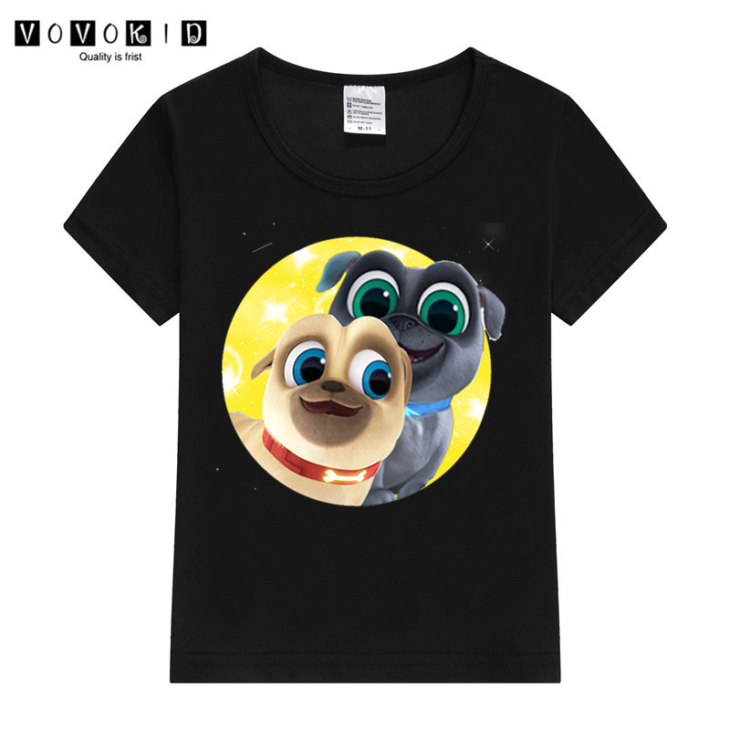 Little Girl Boy Puppy Dog Pals Print Funny Cartoon T-shirt Chlidren Summer Top Baby T Shirt Thanksgiving Shirt