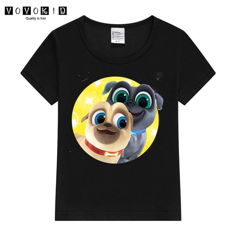 Little Girl Boy Puppy Dog Pals Print Funny Cartoon T-shirt Chlidren Summer Top Baby T Shirt Thanksgiving Shirt