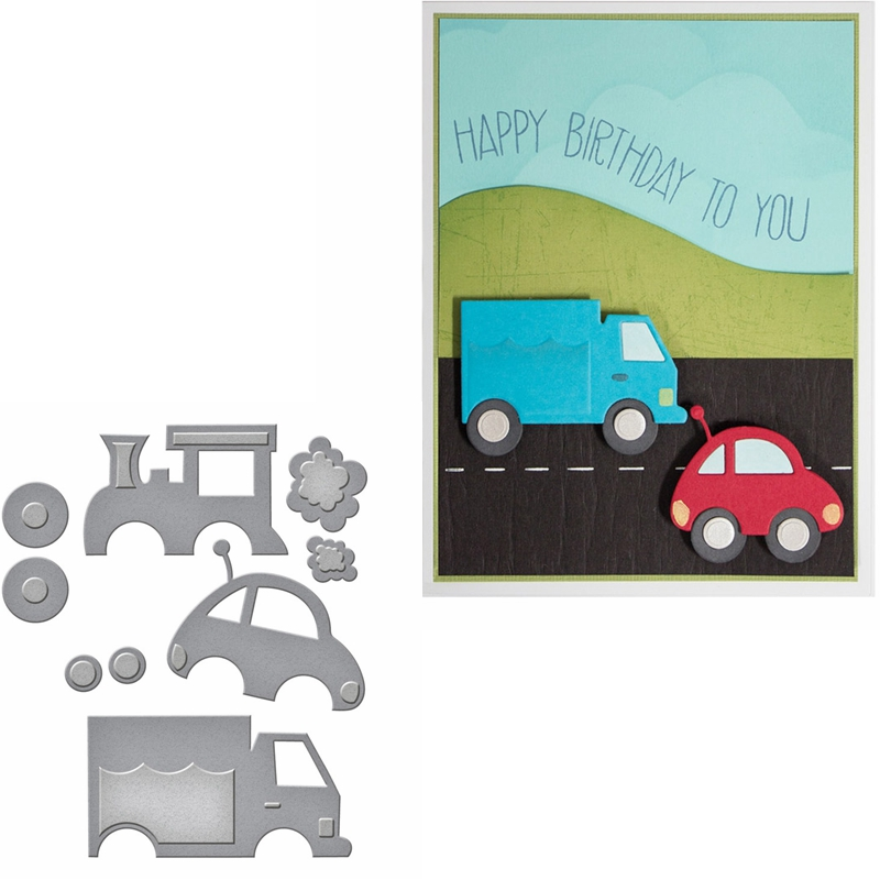 Tiny Car&Truck Metal Cutting Dies Stencils Tiny Car&Truck Die Cuts For Card Making Decoration New 2019