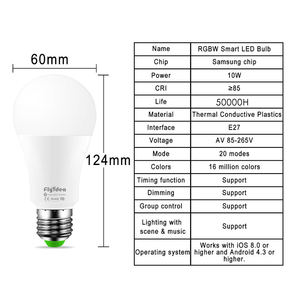 Image 3 - New Wireless Bluetooth Smart Bulb LED 10W RGB Magic Lamp E27 Color Change Light Bulb Smart Home Lighting Dimmable  IOS / Android