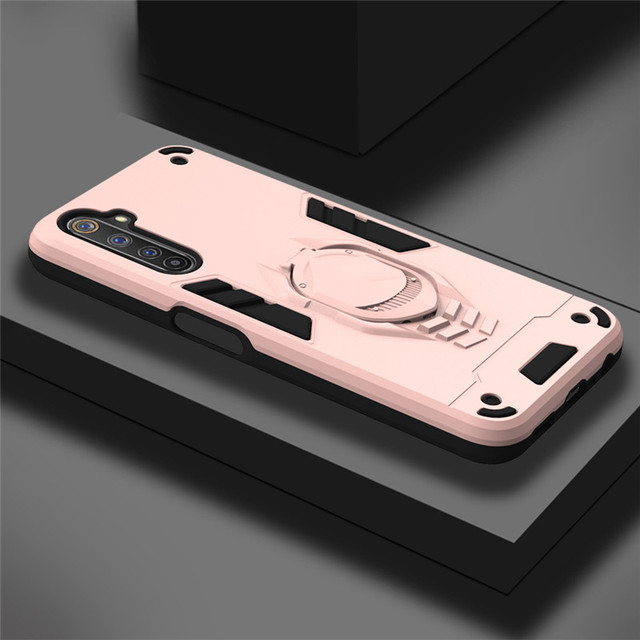 Carcasa de lujo armadura para OPPO Realme 6 Pro funda para OPPO Realme 6 5 Pro 6i Q C3 C1 anillo cubierta Realme6 Realme6Pro funda de teléfono