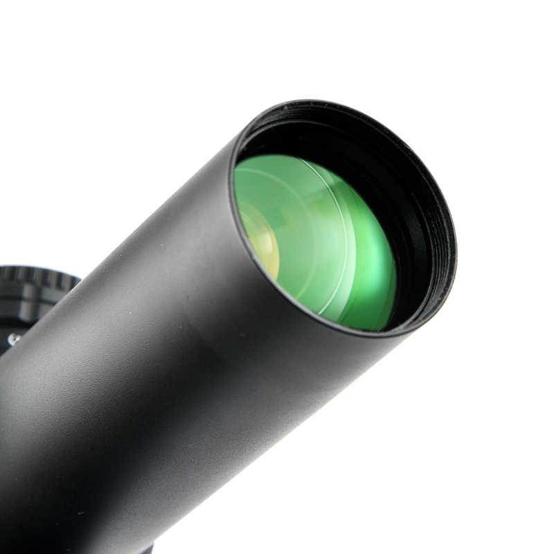 Nuevo 1-5x24 caza proveedor con rojo y verde retícula iluminada óptica mira para cazar alcance