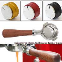 Coffee Tamper 51/58mm Adjustable Height Powder Hammer Coffee Distributor Coffee Distribution Tool Bottomelss Naked Portafilter