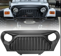 Front Bumper Grille Matte Black Grille Angry Bird for Jeep Wrangler TJ 1997 2006