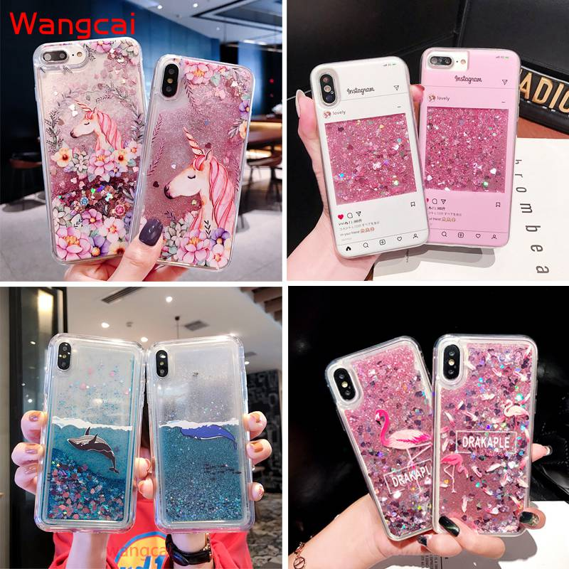 Unicorn Liquid Case For Samsung Galaxy A51 A71 A10S A20S A70 A60 A50 A40 A30 A20 A10 M10 M20 A40S A9 A7 2018 Case Quicksand Case