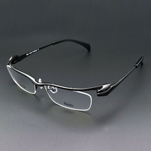 Glass Frame Male Myopia Glasses Half Box Pure Titanium Frames Eyebrow Eyeglasses Flick a